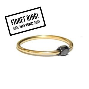 Anxiety/Fidget Ring - Sliding Bead Ring
